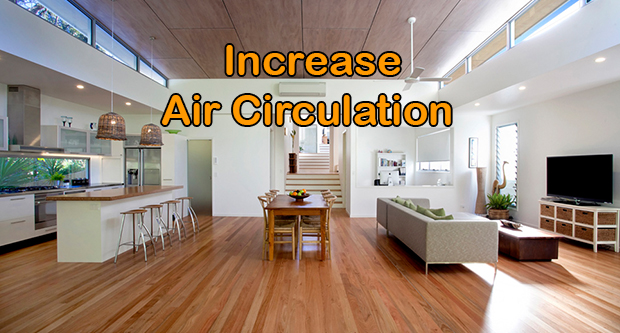 Increase Air Circulation In The Home