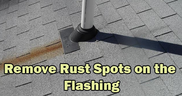 Remove Rust Spots on the Flashing (2)