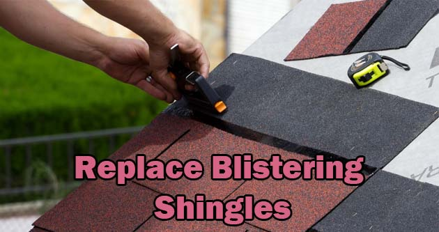 Replace Blistering Shingles