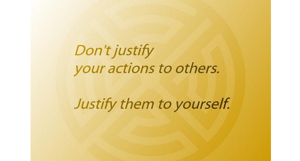 The Need to Justify Your Actions