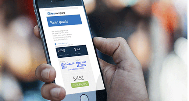 Signup for Free Airfare Alerts