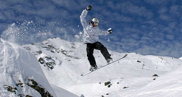 Snowboard at Courchevel