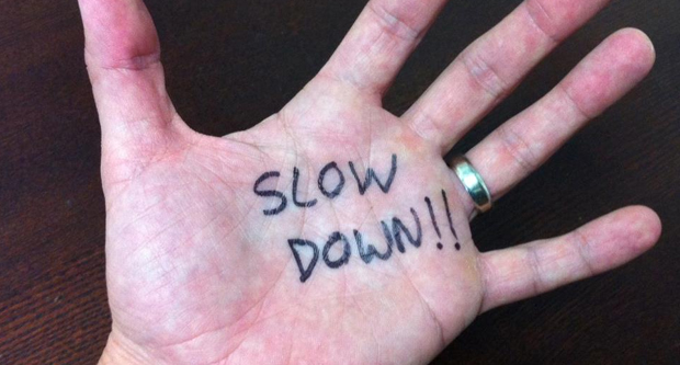 Slow down your speech