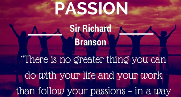 Work on your passions