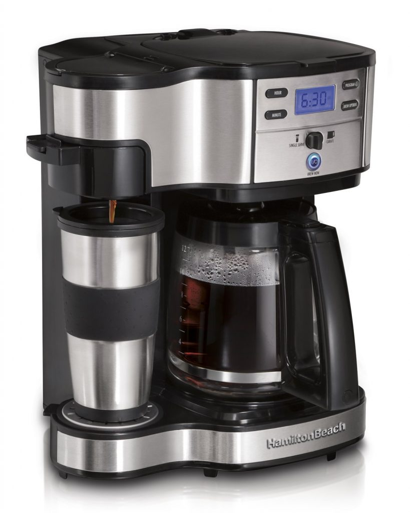 Hamilton Beach 2-Way Single Serve and Full Pot Coffee Maker