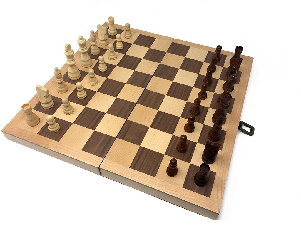 Hansen Games Classic Natural Wood Wooden Chess Set